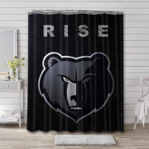 Memphis Grizzlies Shower Curtain Bathroom Decoration Waterproof Polyester Fabric.