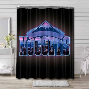 Denver Nuggets NBA Shower Curtain Waterproof Polyester
