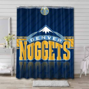 Denver Nuggets Shower Curtain Waterproof Polyester