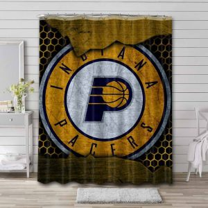 Indiana Pacers Team Shower Curtain Waterproof Polyester