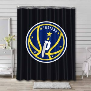 Indiana Pacers NBA Shower Curtain Bathroom Decoration