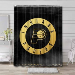 Indiana Pacers NBA Shower Curtain Waterproof Polyester