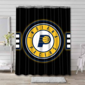 Indiana Pacers Shower Curtain Waterproof Polyester