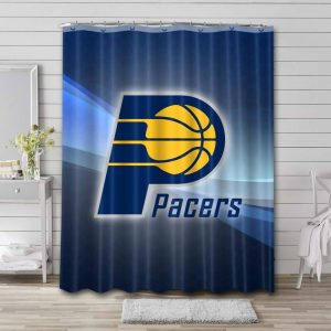Indiana Pacers Shower Curtain Bathroom Decoration Waterproof Polyester Fabric.