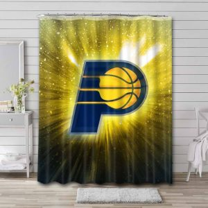 Indiana Pacers Team Shower Curtain Bathroom Decoration
