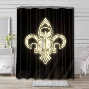 New Orleans Pelicans Basketball Shower Curtain Waterproof Polyester
