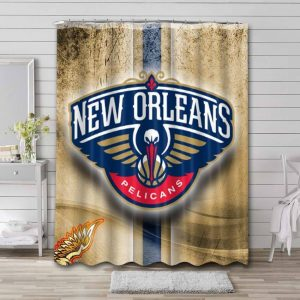 New Orleans Pelicans Shower Curtain Waterproof Polyester