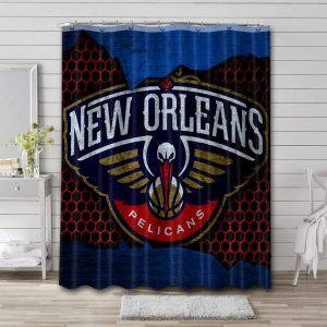 New Orleans Pelicans Shower Curtain Bathroom Decoration Waterproof Polyester Fabric.