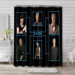 NCIS TV Series Shower Curtain Waterproof Polyester