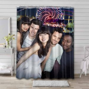 New Girl TV Series Shower Curtain Waterproof Polyester