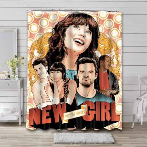 New Girl Shower Curtain Waterproof Polyester