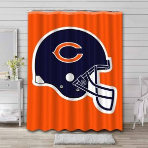 Chicago Bears Shower Curtain Bathroom Decoration Waterproof Polyester Fabric.
