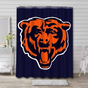 Chicago Bears Shower Curtain Waterproof Polyester