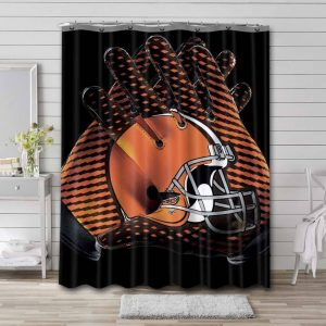 Cleveland Browns Logo Shower Curtain Waterproof Polyester