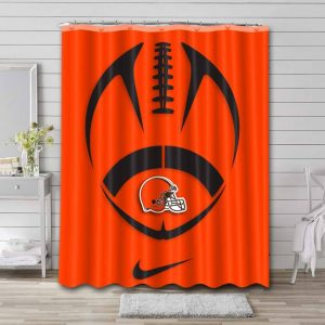 Cleveland Browns Shower Curtain Waterproof Polyester