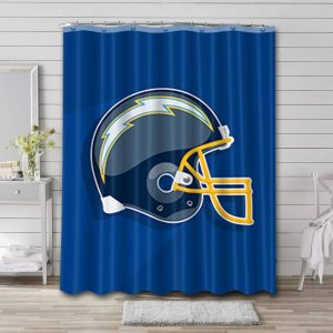 Los Angeles Chargers Football Shower Curtain Bathroom Decoration