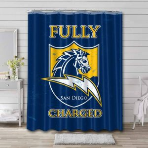 Los Angeles Chargers Logo Shower Curtain Bathroom Decoration