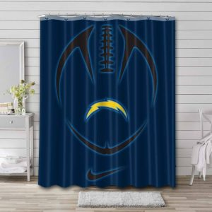 Los Angeles Chargers NFL Shower Curtain Waterproof Polyester