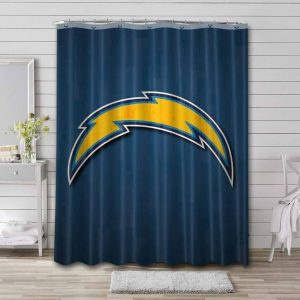 Los Angeles Chargers Shower Curtain Bathroom Decoration