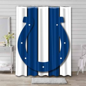 Indianapolis Colts NFL Shower Curtain Waterproof Polyester