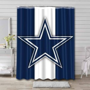Dallas Cowboys Team Shower Curtain Waterproof Polyester