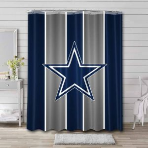 Dallas Cowboys NFL Shower Curtain Waterproof Polyester