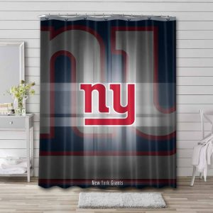 New York Giants NFL Shower Curtain Waterproof Polyester