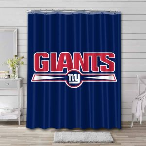 New York Giants Shower Curtain Waterproof Polyester