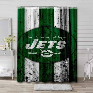 New York Jets NFL Shower Curtain Waterproof Polyester