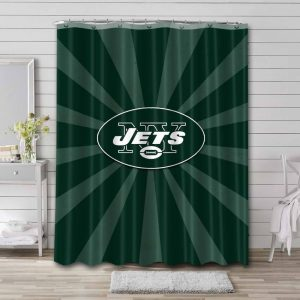 New York Jets Shower Curtain Waterproof Polyester