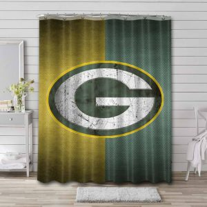 Green Bay Packers Team Shower Curtain Waterproof Polyester