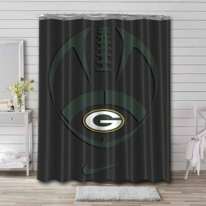 Green Bay Packers Shower Curtain Bathroom Decoration
