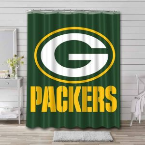 Green Bay Packers Shower Curtain Waterproof Polyester
