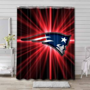 New England Patriots Football Shower Curtain Waterproof Polyester