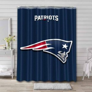 New England Patriots Shower Curtain Waterproof Polyester