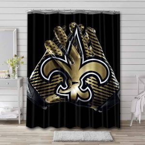 New Orleans Saints Logo Shower Curtain Waterproof Polyester
