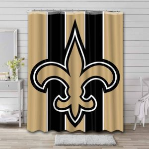 New Orleans Saints NFL Shower Curtain Waterproof Polyester