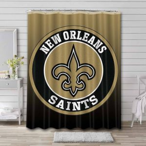 New Orleans Saints Shower Curtain Bathroom Decoration Waterproof Polyester Fabric.