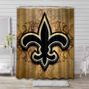 New Orleans Saints Shower Curtain Waterproof Polyester