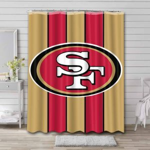 San Francisco 49ers Shower Curtain Waterproof Polyester
