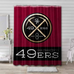 San Francisco 49ers Football Shower Curtain Waterproof Polyester