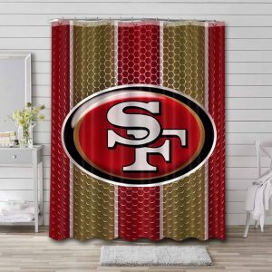 San Francisco 49ers Team Shower Curtain Waterproof Polyester
