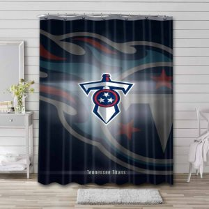 Tennessee Titans Shower Curtain Bathroom Decoration Waterproof Polyester Fabric.
