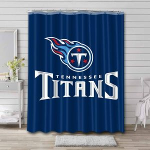 Tennessee Titans Football Shower Curtain Waterproof Polyester