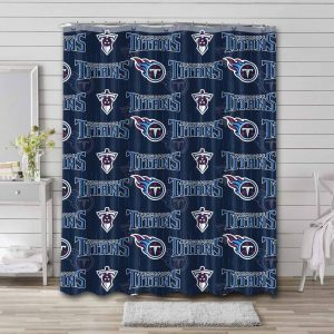 Tennessee Titans Pattern Shower Curtain Waterproof Polyester