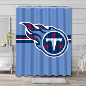 Tennessee Titans Shower Curtain Waterproof Polyester