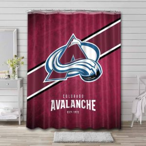 Colorado Avalanche Shower Curtain Waterproof Polyester