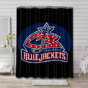 Columbus Blue Jackets NHL Shower Curtain Waterproof Polyester