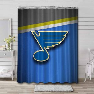 St. Louis Blues Shower Curtain Bathroom Decoration Waterproof Polyester Fabric.
