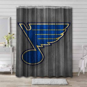 St. Louis Blues Shower Curtain Waterproof Polyester